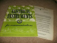 WESTINGHOUSE ELECTRICAL INSTRUMENTS FOR COMMUNICATIONS BOOK - 1944  - ESTATE