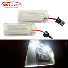 2x LED License Number Plate Light For Ford Focus Fiesta Mondeo Cmax Rear Lamp