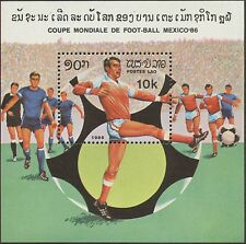 "LAOS Bloc N°88 ** Football ""Mexico 1986"", Soccer world cup Sheet Sc#684 MNH"