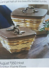 NWT 2011 RARE Longaberger Rare Golden Fields Basket Bundle (2)  $350 Retail