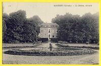 cpa 14 - MANERBE (Calvados) Le CHÂTEAU Côté Nord Prince et Princesse HANDJERI