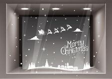 Adesivi Decorazione Natale Adesivo Renne Vetrina Negozio Vetrofanie Natalizie