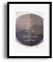 Grace Too by the Tragically Hip - Print Poster Wall Art - Song Lyric Rock Music