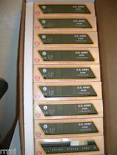 HO TRAINS  MILITARY  US ARMY TRAIN SET 8 BOX CARS   WITH  51'  GONDOLA  #RR 3109