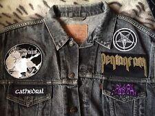 Stoner Doom Metal del dril de algodón chaqueta chaleco chaleco de batalla Pentagrama Black Sabbath..