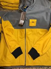 Old Harbor Outfitters OHO North Rip Full Zip Fishing Jacket Grey/Yellow Med $120