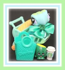 ❤️Authentic Littlest Pet Shop LPS #1325 BLUE & Green Sea Turtle w/ Starbucks❤️