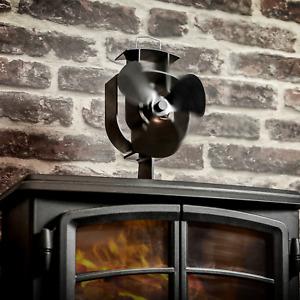 Heat Powered Stove Fan Wood Log Burner Fireplace Eco Friendly M&W
