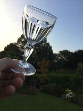6 verres à eau en cristal .Modèle PAUL 1er . H: 156 mm  Val Saint Lambert