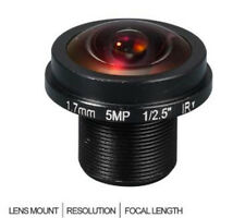 HD Fisheye CCTV Lens 5MP 1.7MM M12*0.5 Mount 1/2.5 F2.0 180° for IP Security