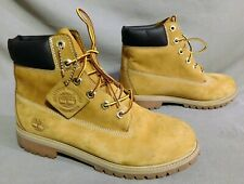 BOYS TIMBERLAND TAN LEATHER CASUAL HIKING WORK BOOTS 7