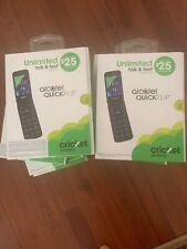 BRAND NEW LOT OF 10 Cricket Alcatel QUICKFLIP 4G LTE Flip Phone Silver