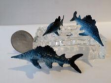"New 3 Pc Wahoo Fish Plastic Figurine Diorama 2"" long Oceanic Life Aquarium Tank"
