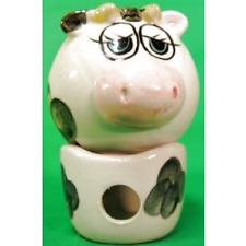 Chubby Spotted Cow Potpourri Pot & Tea Candle Holder Set With Gift Box