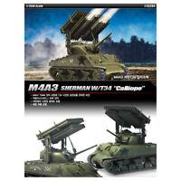 "ACADEMY #13294 1/35 Plastic Model Kit M4A3 SHERMAN W/T34 ""Calliope"""