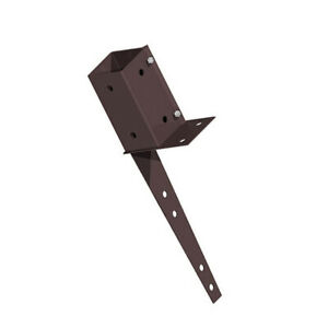 """FENCEMATE® 3"""" x 3"""" (75mm) SWIFT CLAMP WALL MOUNT FENCE POST SUPPORT BASES BROWN"""