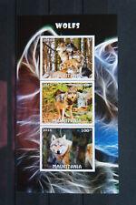 Waldtiere 20 forest animals Wölfe wolves Fauna wildlife 2016 geschnitten ** MNH
