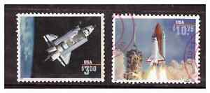 United States, 2544,-A, USED, 1995, $3.00 & $10.75 Space Suttles