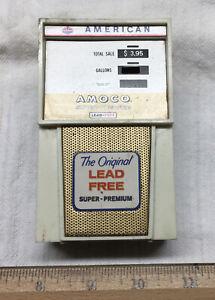 Vintage Lead Free Amoco American Standard Oil Transistor AM Radio Gas Pump Works