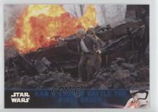 2016 Lightsaber Blue #60 Han & Chewie Battle The First Order Solo Card x3y