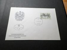 AUTRICHE OSTERREICH, 1° JOUR 1971, timbre THEME VOITURE, OLD CAR, VF FDC