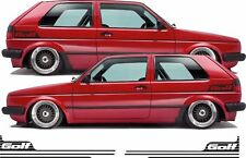 VW Volkswagen Mk2 Golf thick protection textured Side stripes Decals Stickers