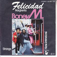 "BONEY M  Felicidad (Margherita) PICTURE SLEEVE 7"" 45 record NEW + jukebox strip"