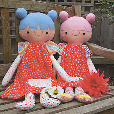 PEACHES Rag Doll Sewing Craft PATTERN - Felt Cloth Rag Doll