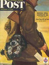 The Saturday Evening Post November 17 1945 Albert Staehle Hunting Birthday Gift