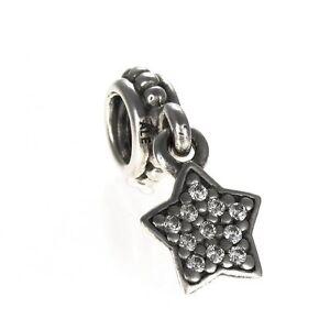 Genuine Pandora Star Pave Cubic Zirconia Silver Charm 791024CZ