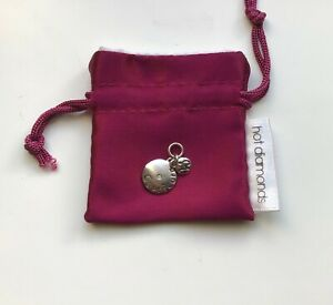 Sterling Silver Hot Diamond Capricorn 925 Sterling Silver Charm & pouch