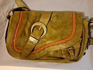 Authentic DIOR Gaucho Saddle Leather Bag