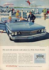 1960 Pontiac Bonneville Convertible 2-Door at the Beach  PRINT AD