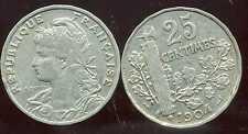 25 centimes 1904  PATEY