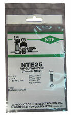 NTE25 Silicon PNP Transistor: Gen Purpose Amplifier, Switch:TO237 Package: New