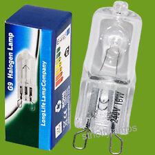 10 x G9 Halogen Energy Saving Light Bulbs 18w = 25w