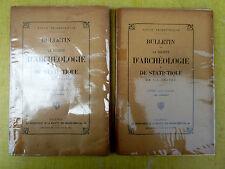 Lot de 2 anciens livres BULLETIN DE LA SOCIETE D'ARCHEOLOGIE ET DE STATISTIQUE