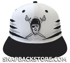 Oakland Raiders Retro Arrows Snapback Cap Hat White Black