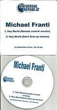Spearhead MICHAEL FRANTI Hey World w/ RARE VERSION TST PRESS PROMO DJ CD single