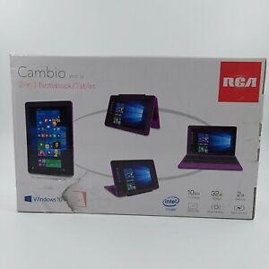 """NEW RCA Cambio 10.1"""" 2-in-1 Tablet 32GB Z3735F Quad-Core Processor Windows 10"""