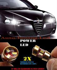 LUCI POSIZIONE ALFA ROMEO 147 05-11 CANBUS T10 BIANCO 27 LED SUPER QUALITA