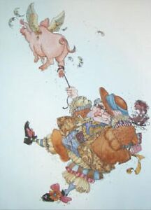 James C Christensen DIGGERY DIGGERY DARE Paper Etching #22/60 RARE Limited Ed.