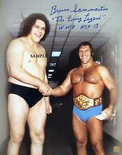 ANDRE THE GIANT BRUNO SAMMARTINO REPRINT AUTOGRAPHED 8X10 SIGNED PHOTO WWE WWF