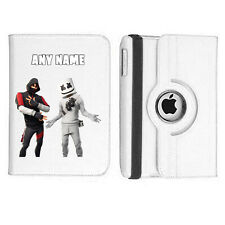 FORT NITE 22 Name Personalised iPad 360 Rotating Case Cover Birthday Present