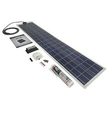 PV LOGIC Flexi 80wp Roof/Deck Top Solar Panel Kit - Campervan | Caravan | Boat