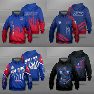 New York Giants Men Hoodie Sweatshirt Pullover Casual Hooded Jacket Tops Gifts