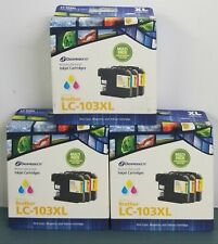 3 Dataproducts for Brother LC-103XL Cyan/Magenta/Yellow Remanufactured Cartridge