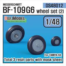 DEF. Model, DS48012, Messerschmitt Bf-109G6 Wheel Set (2), 1:48