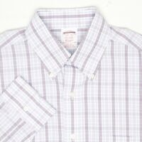 Brooks Brothers Mens Dress Shirt 14.5/32 Blue White Purple Check Long Sleeve