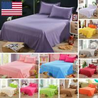 Bedding Sheet Bed Flat Sheets Soft Skin-friendly Coverlet Pillowcase Queen Size